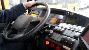 Linja-auton ohjaamo