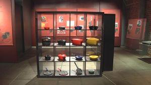 Rosenlew-museossa on esillä suomalaisia keittiötuotteita.