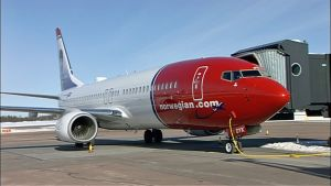 Lentoyhtiö Norwegianin kone.