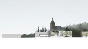 Havainnekuva Kangasalle rakennettavasta Kimmo Pyykkö -museosta.