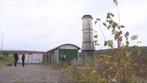 Kaasuasema Mustankorkean jäteasemalla.