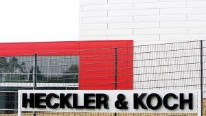 Heckler & Koch -yrityksen julkisivu Oberndorfissa.