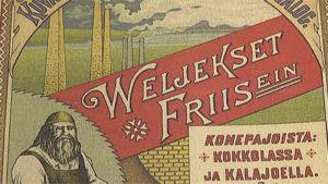 Kuvassa Friisin konepajan juliste