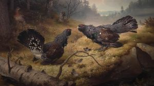 Ferdinand von Wrightin taulu Taistelevat metsot 1886