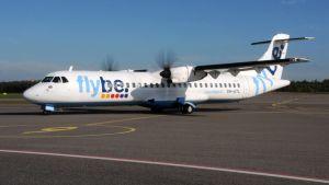 Flybe ATR 72 potkurikone kentällä