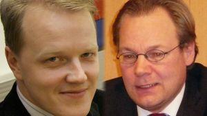 Mikkelin kaupunginjohtaja Kimmo Mikander ja Savonlinnan kaupunginjohtaja Janne Laine.