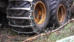 Metsäkoneen renkaat