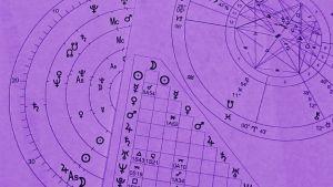 Astrologinen tähtikartta.