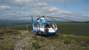 Pelastushelikopteri Aslak tunturissa.