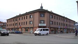 Katunäkymä Seinäjoen ydinkeskustasta. Syksy.