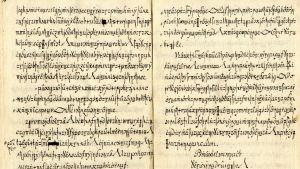 Salakielinen käsikirjoitus 1700-luvulta.