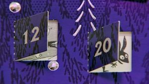 Lähikuva Muumit-joulukalenterista.
