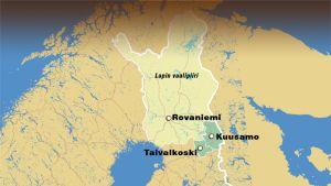 Vihreät ehdottavat Kuusamoa ja Taivalkoskea Lapin vaalipiiriin.