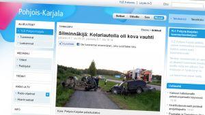 YLE Pohjois-Karjalan nettisivu.