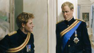 Yksityiskohta Britannian prinssien muotokuvasta.