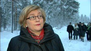 Liikenneministeri Anu Vehviläinen.