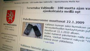 Valtimon kunnan nettisivut.