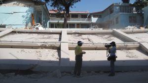 St Vincentin kuurojen koulusta sortui mm. koulua ympäröivä muuri