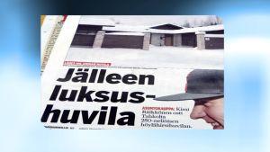 Ilta-Sanomien lehtijuttu Kimi Räikkösen huvilasta