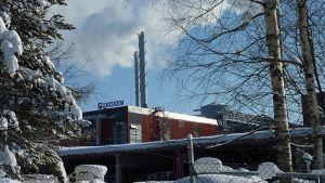 Ekokemin teollisuusalue talvella