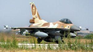 Israelin armeijan F16-hävittäjä.