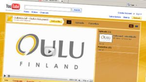 Oulun kaupungin Oulu in 60 seconds -musiikkivideokilpailun YouTube-sivusto