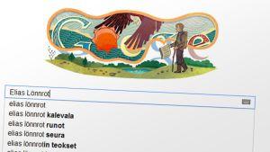 Ruutukaappaus google.fi-aloitussivusta 9.4.2012.
