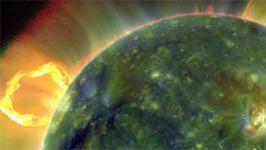 Erikoiskameralla otettu kuva auringosta