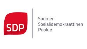 SDP:n uusi logo.