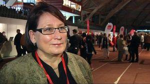 Riitta Myller SDP:n puoluekokouksessa Joensuussa.