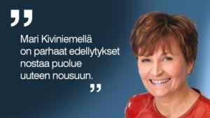 Keskustan entinen puheenjohtaja Anneli Jäätteenmäki