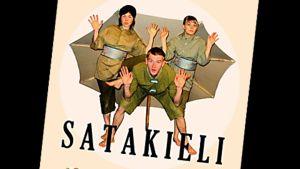 Nukketeatteri Akseli Klonkin Satakieli -näytelmän juliste.