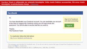 facebook käyttäjätunnus kalastelu