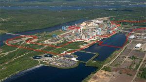Biodiesellaitoksen mahdollinen sijoituspaikka Kemin tehdasalueella.