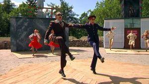 Votkaturistit -näytelmän harjoitukset kesällä 2009.