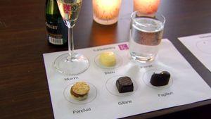 Suklaata ja kuohuviiniä
