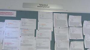 Työvoimatoimiston ilmoitustaulu