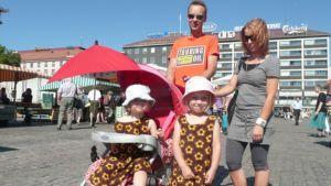 Sourun perhe oli varautunut auringon säteilyltä.