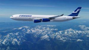 Finnairin Airbus A340