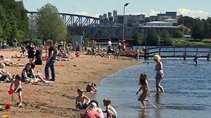 Oulun Tuiran uimaranta.
