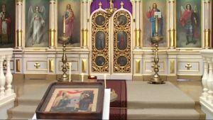 Profeetta Elian kirkon ikonostaasi Ilomantsissa.