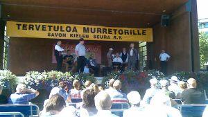Murretori-tapahtuma Kuopion satamassa.