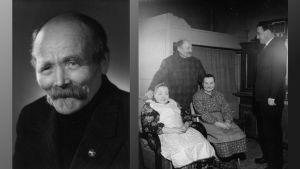 August Pyölniittu oli Paimion viisas. Siskot Olga ja Ida olivat mukana, kun radiotoimittaja Martti Timonen haastatteli Akua 1950-luvulla.
