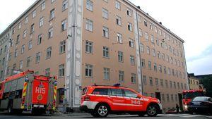 Paloautoja Harjukadulla Helsingissä