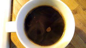 Kahvia kupissa.