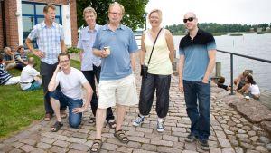 Kotka Jazz Campin opettajat Christian Spering, Teemu Viinikainen, Thomas Clausen, Eero Koivistoinen, Katrine Madsen ja Jussi Lehtonen.
