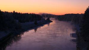 Kymijoki talvella Myllykosken alapuolella