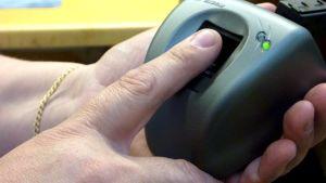 Passia varten tarvitaan elektroninen sormenjälki.