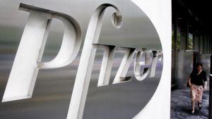 Pfizerin pääkonttori New Yorkissa.