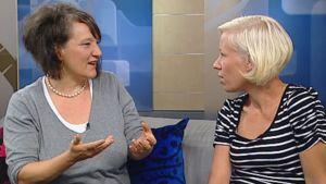 Monika Fagerholm ja Lilli Loiri-Seppä